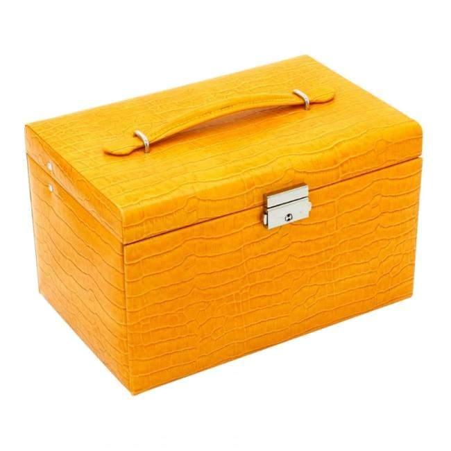 Классическая шкатулка для украшений Friedrich Lederwaren, желтая