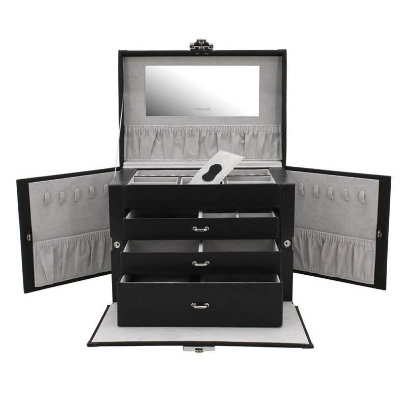 """Шкатулка для украшений """"Профессиональный чемоданчик"""", черная"""