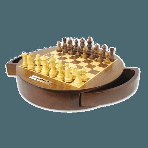 """Шахматы """"Великий гроссмейстер"""" с круглой доской"""