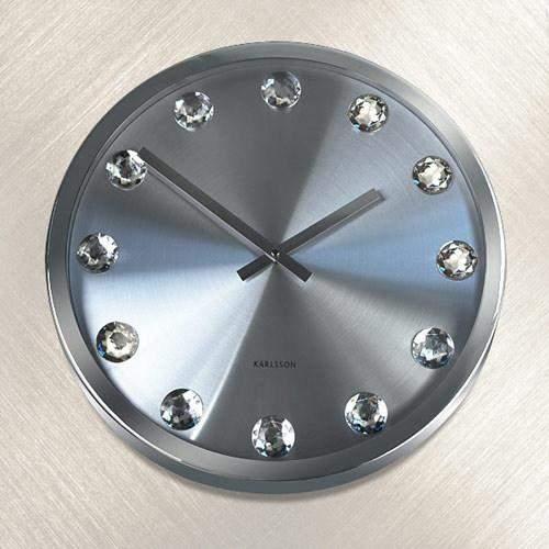Часы настенные КРИСТАЛЬНОЕ ВРЕМЯ (белые)